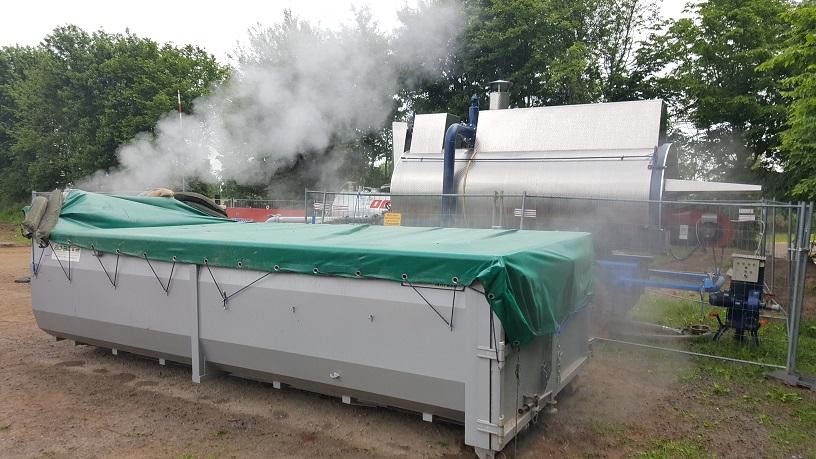 Spezial Abroll-Dämpfmulden mit Dampfkessel S 2000 von MSD