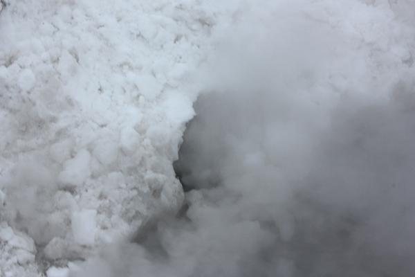 Dampf tritt aus
