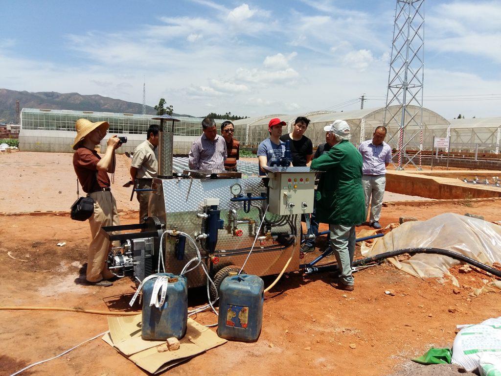 Inbetriebnahme eines Dampfkessels Typ MS 100 zur Substratdämpfung