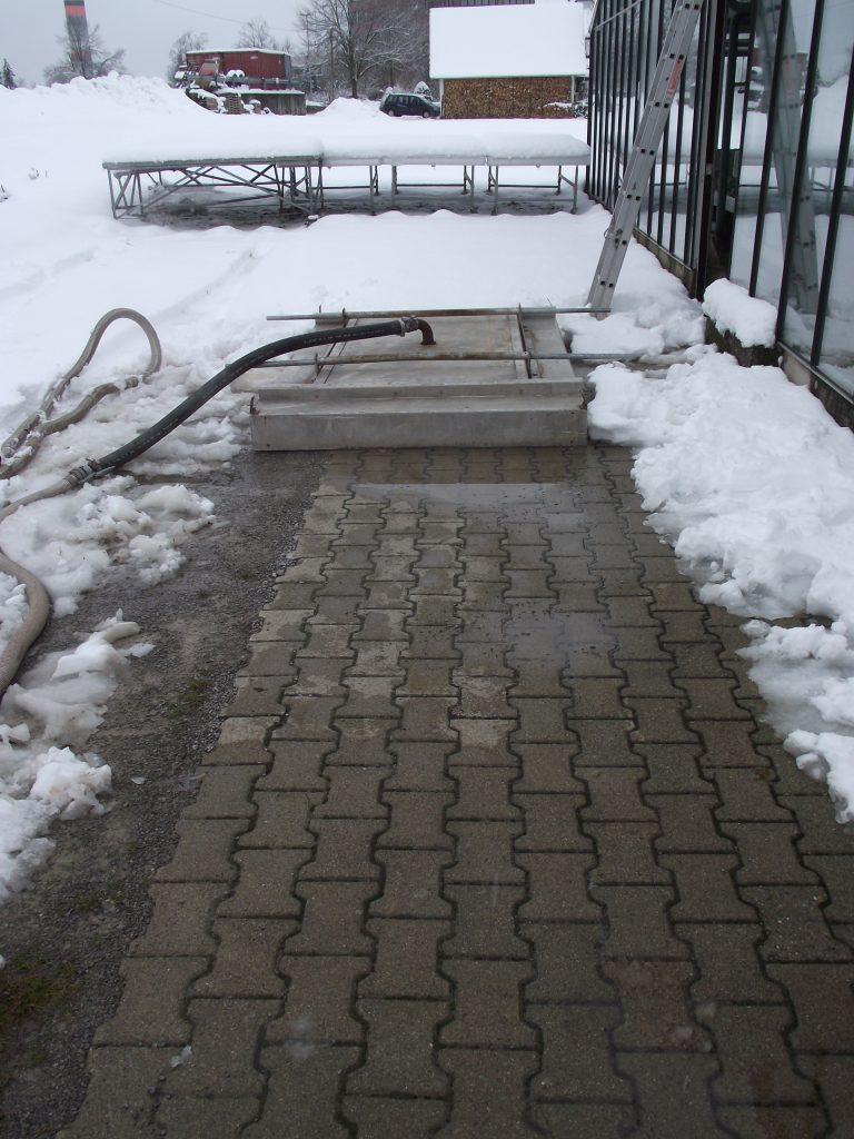 Haubendämpfung - Die Fläche ist vollständig von Schnee befreit - ein optimales Ergebnis